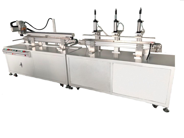 5000XDJX全自动亚力克板涂胶贴合流水线